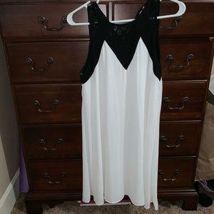 NWOT Francesca's Black & White Formal Dress